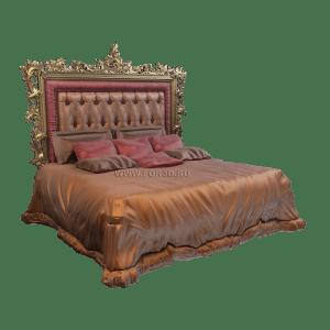 Кровать с резными узорами