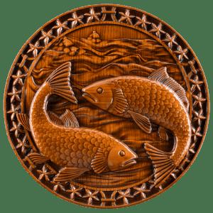 Резные панно знаки Зодиака из дерева для подарка или сувенира