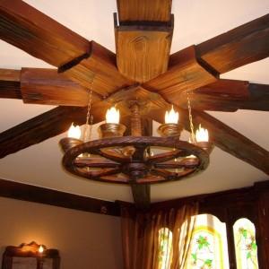 Деревянная потолочная Люстра