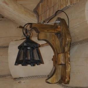 настенный Деревянный светильник