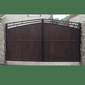Деревянные ворота Модерн