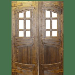 Двустворчатая дверь под старину