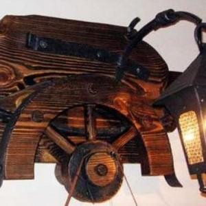 Интерьерный Деревянный светильник