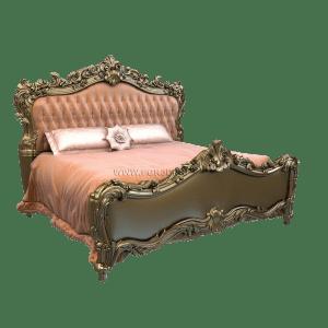 роскошная кровать из дерева