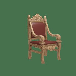деревянное кресло в кожаной обивке