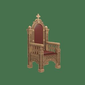 Роскошное деревянное кресло