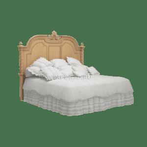 двуспальная кровать из дерева для спальни
