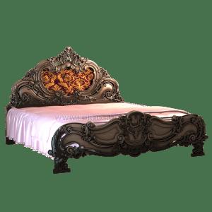 Эксклюзивная резная кровать из дерева