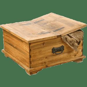 деревянный сундук с двумя крышками в классическом стиле