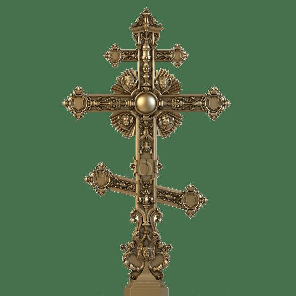 Резной крест из дерева