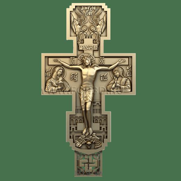 Деревянный крест с объемным распятием