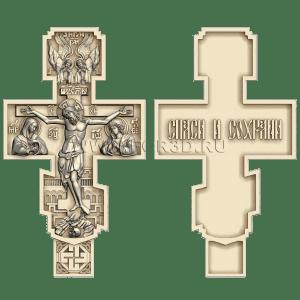 Деревянный крест с резным распятием