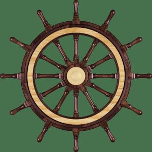 Декоративный штурвал корабля