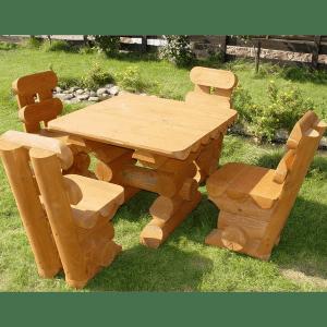 Садовая мебель из брусков дерева