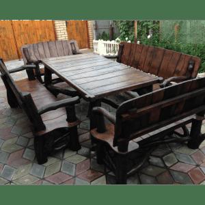 Набор садовой мебели из массива дерева