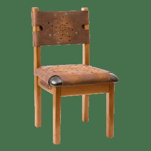 Деревянный стул в кожаной обивке