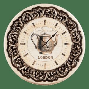 Круглые настенные часы с изображением лондона