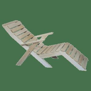 Кресло шезлонг из дерева