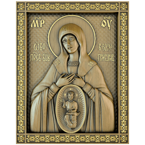 Резная икона Божией Матери Помощница в родах