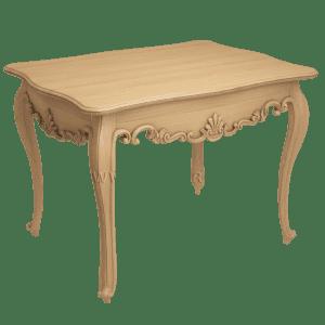 Деревянный стол с резными узорами