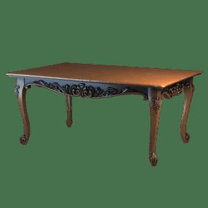 Классический деревянный столик на коротких ножках