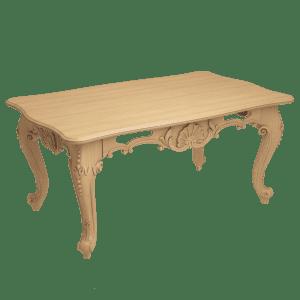 Белый резной стол из дерева