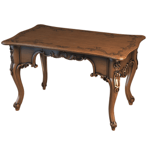Классический деревянный столик с фигурными ножками