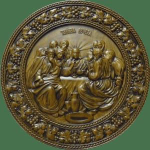 Деревянная икона Тайная вечеря