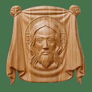 Икона Спаситель из натурального дерева