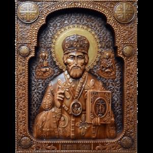 Деревянные резные иконы ручной работы