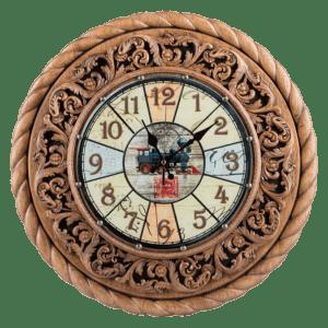 Дизайнерские настенные часы из дерева