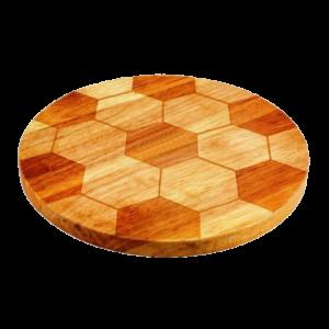 Доска для пиццы под футбольный мяч