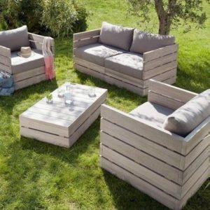 Садовая мебель из дерева для дачи